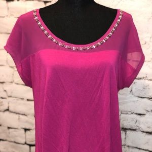 Beautiful woman's Pink Express Blouse